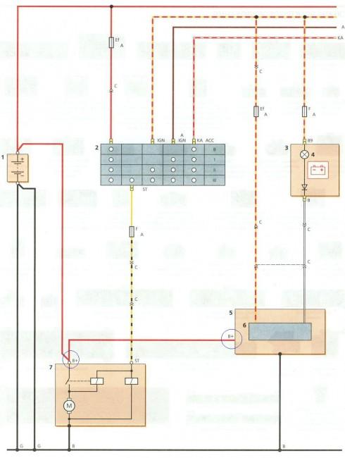 Daewoo электрическая схема